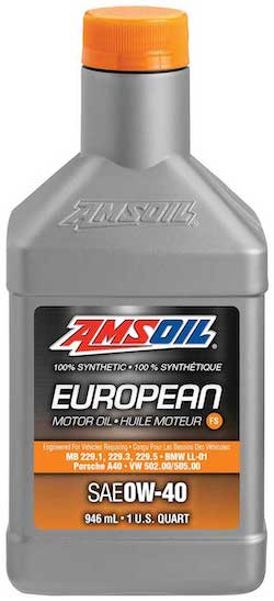AMSOIL European Car Formula 0W-40 Classic Emissions System Protection Synthetic Oil